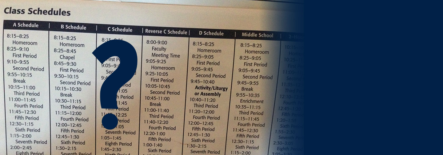 What is the Reverse C Schedule?