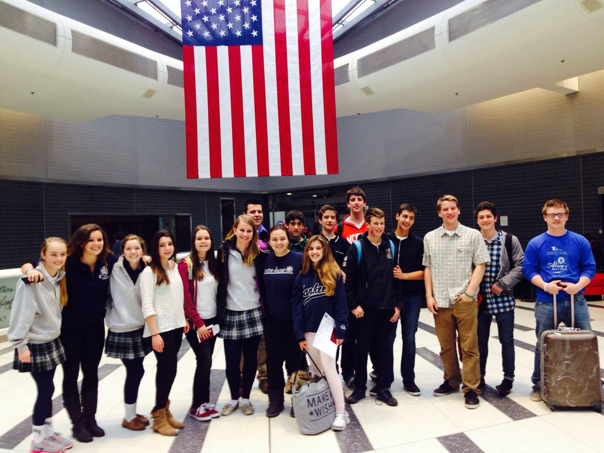 Spanish exchange students meet their hosts from Malvern & Villa / Malvern Exchange