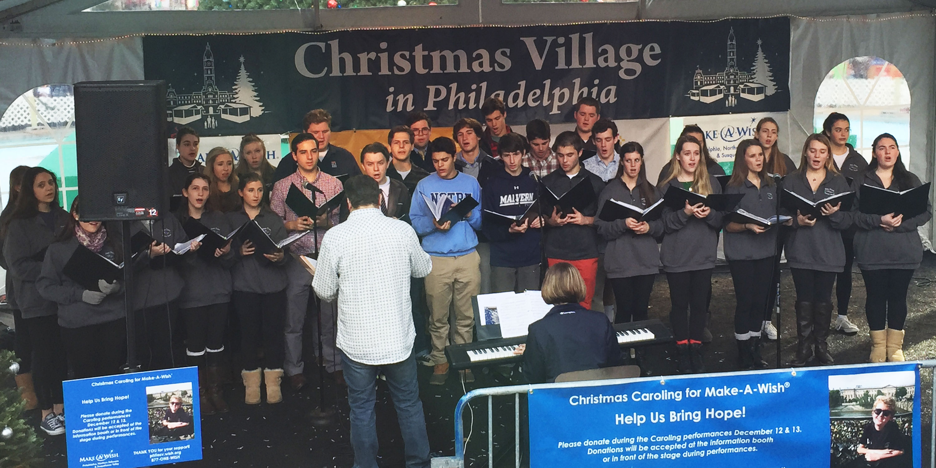 Malvern and Notre Dame sing for Make-A-Wish Foundation
