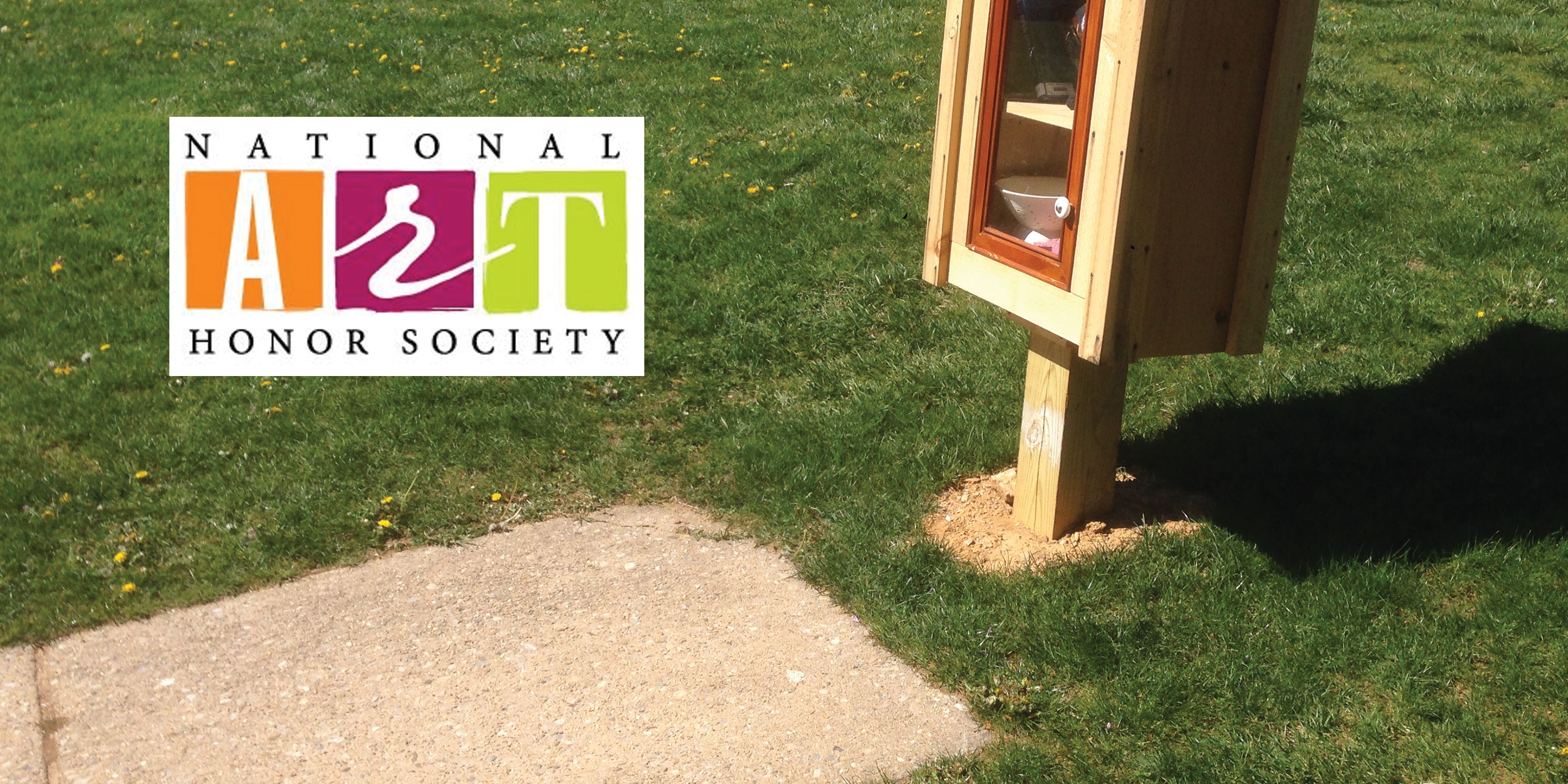 National Art Honor Society painting senior stone
