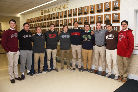 Student-athletes announce college decisions in first signing period