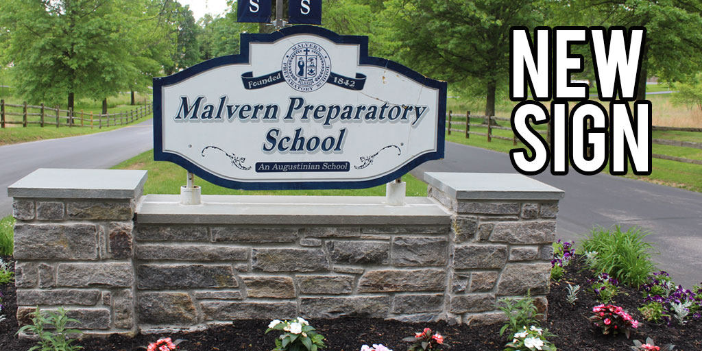Malvern entrance sign repaired after accident