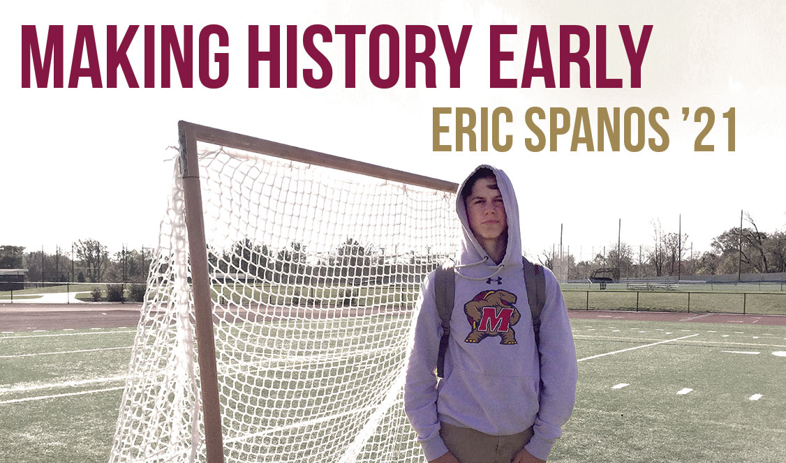Eric Spanos '21 makes history as earliest lacrosse commit