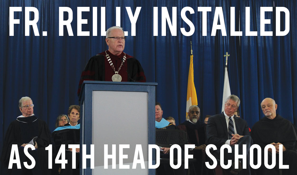 Father Reilly officially inducted as Head of School