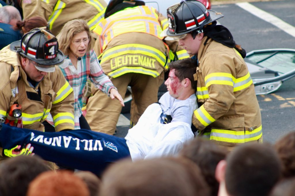 Malvern joins Villa Maria Academy for Mock Car Crash