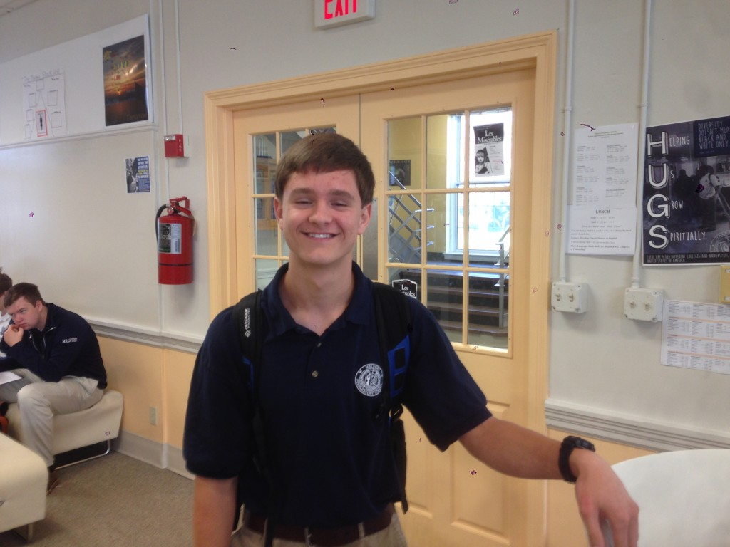 Student of the Issue: Andrew Hopkins '15