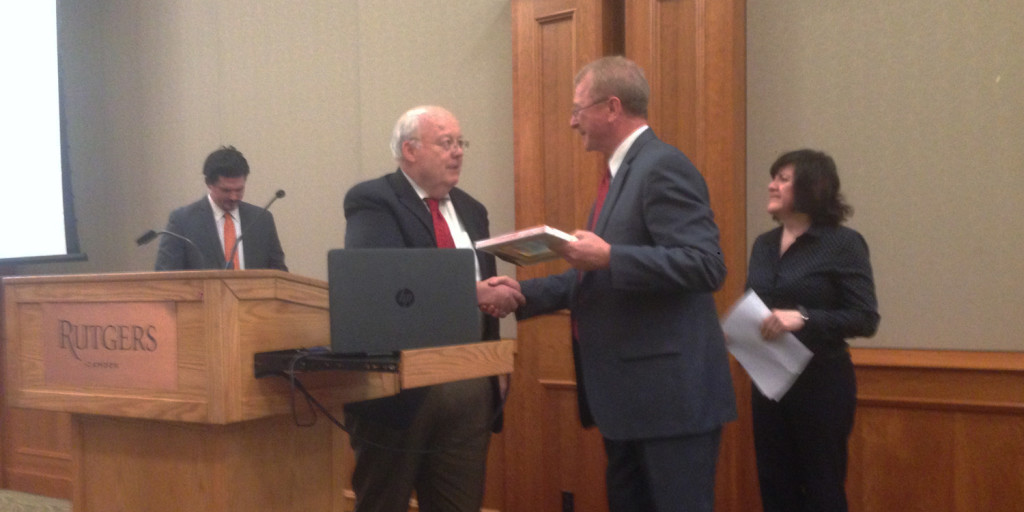 "Malvern accepts ""Good Seed, Good Soil"" award from Romero Center"