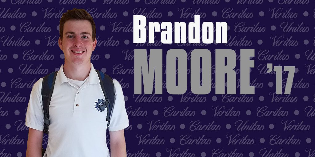 Brandon Moore '17 excited to attend dream school