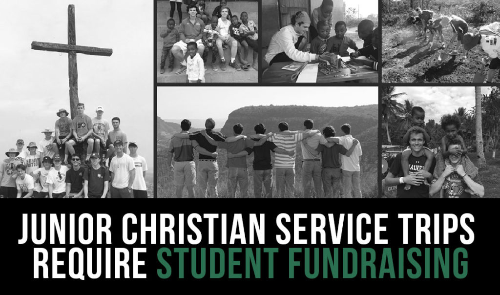 Junior Christian Service trips require student fundraising