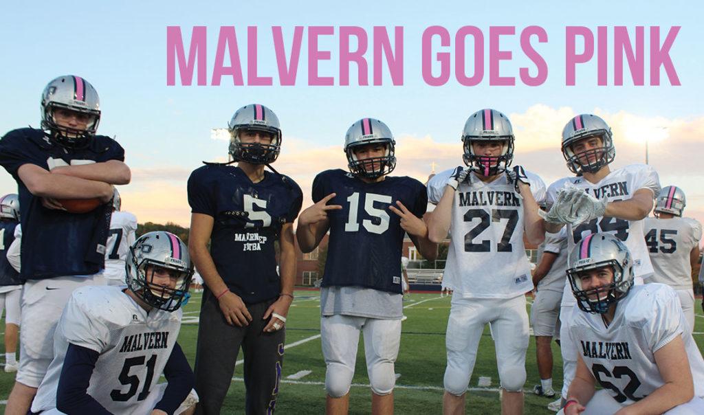 Malvern's Fall Teams Go Pink
