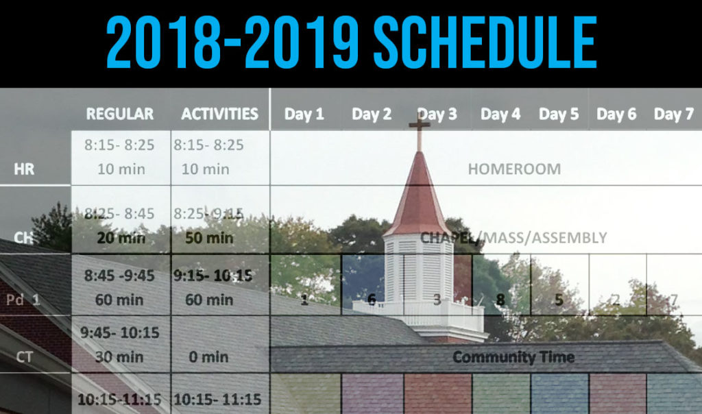 New schedule for 2018-2019 features daily chapel, weekly masses