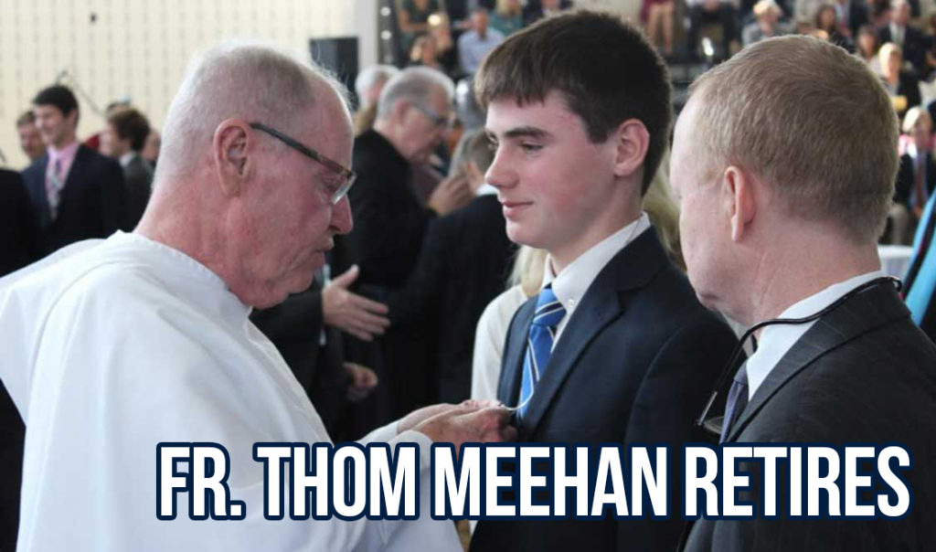 Fr. Thom retires from teaching after nine years at Malvern